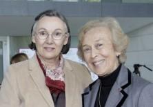 Myrtha Casanova (Presidenta de IEGD y de la Fundación para la Diversidad) y María Lezaun (Vicepresidenta-Fundadora de Fundación Phi)