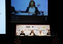 Evangelina García (Ex Ministra de Promoción de la Mujer de Venezuela), Carmen Alborch, Insgibjörn Sólrun (ex Ministra de Asuntos Exteriores de Islandia) y Lu Hsiu-Lien (ex Vicepresidenta de Taiwán)