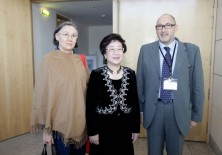 Lu Hsiu-Lien (ex Vicepresidenta de Taiwán), Félix Balboa y María Lezaun (Presidente-Fundador y Vicepresidenta-Fundadora de Fundación Phi)
