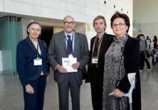 María José Mainar (Presidenta de EVAP), Félix Balboa y María Lezaun (Presidente-Fundador y Vicepresidenta-Fundadora de Fundación Phi), y Javier Ortiz (Secretario del Patronato de Fundación Phi)