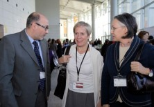 Insgibjörn Sólrun (ex Ministra de Asuntos Exteriores de Islandia), Félix Balboa y María Lezaun (Presidente-Fundador y Vicepresidenta-Fundadora de Fundación Phi)