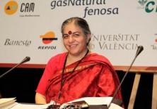 Dra. Vandana Shiva, fundadora de la Fundación para la Investigación Científica, Tecnológica y Ecológica en India