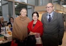 Inés Sánchez de Madariaga, Directora de la Unidad de Mujeres y Ciencia del Ministerio de Ciencia e Innovación, Félix Balboa y María Lezaun (Presidente-Fundador y Vicepresidenta-Fundadora de Fundación Phi)