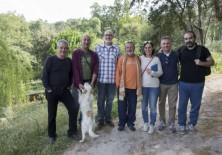 El Presidente de Fundación Phi, Félix Balboa y otros miembros de la fundación junto a Ignacio Trives, Ingeniero Agrónomo (Asociación de Propietarios del Castañar de Hoyos)