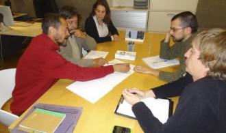 Reunión de trabajo en la sede de Phi Gaia