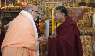 Pujya Swami Rameshwarananda Giri Maharaj y  H.H. The Sakya Trizin