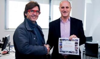 Entrega del diploma de agradecimiento a D. Ignacio Mateu, Director de Marketing de Feria Valencia
