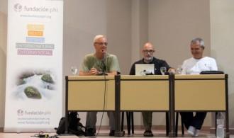 Pedro Pozas Terrados, Director Ejecutivo del Proyecto Gran Simio, Félix Balboa, Presidente de Fundación Phi, y Jose Pablo Gadea, Presidente de la Fundació Mediambiental de la Comunitat Valenciana