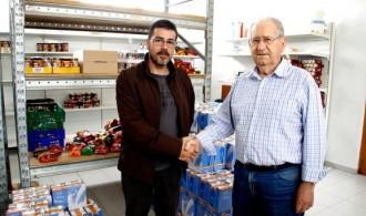Rafael Álvarez de Fundación Phi y Ximo Esteve, director de Cáritas Interparroquial de Puçol