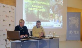 Pedro Pozas, Director ejecutivo del PGS y el científico José María Bermúdez de Castro