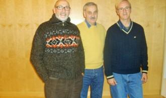 Félix Balboa, Presidente de Fundación Phi, el científico José María Bermúdez de Castro y Pedro Pozas, Director ejecutivo del PGS