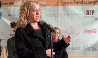 La Excma. Sra. Alcaldesa de Puçol en el acto de inauguración del Mercadillo Solidario 2013