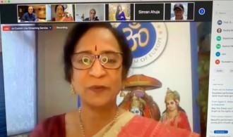 Lakshmi Vyas, presidenta del Hindu Forum of Europe