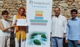De izquierda a derecha: Marta López (Patronato de Fundación PHI), Christiane Gey (Childsrights), Emilio Aliaga (Secretario de Fundación PHI) e Ignacio Rodríguez (Comité ejecutivo Fundación PHI)