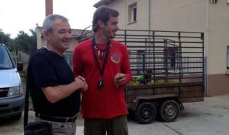 José Pablo Gadea (Fundación Phi y Fundació Mediambiental) y Bonggi R. Ibarrondo (Asociación Gata-Hurdes Reforest-Acción, proyecto Octubre de Reforest-Acción)