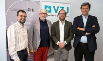 De izquierda a derecha, Ignacio Rodriguez (Phi Gaia), Félix Balboa (Fundación Phi), Javier Muñoz (V3J) y Javier Millet (Millet Abogados)