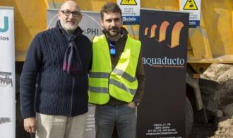 Presidente de Fundación Phi, Félix Balboa y Manuel Jesús Castelló Vinagre, Administrador y Director de Aquaducto Ingeniería y Servicios Extremeños, S.L.